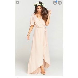 Show Me Your Mumu Sophia Wrap Dress Dusty Blush Sm